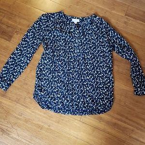 Loft long sleeve rayon blouse